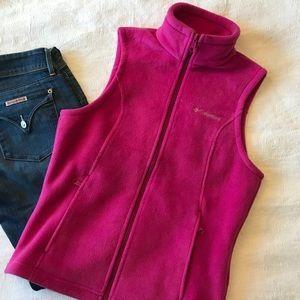 COLUMBIA Pink Fleece Vest {NWOT}